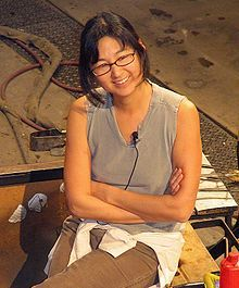 Maya Lin--Designer of the Vietnam War memorial in DC
