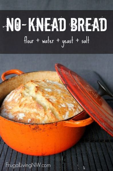 Easy No Knead Oven Bread Recipe. No bread machine needed! Add this to your homemade bread recipes!