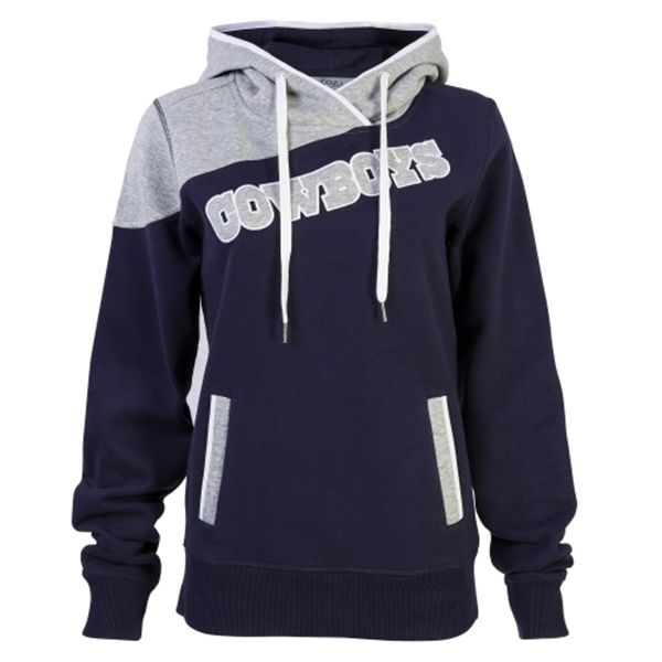 Women's Dallas Cowboys Gray/Navy Blue Firethorn Pullover Hoodie