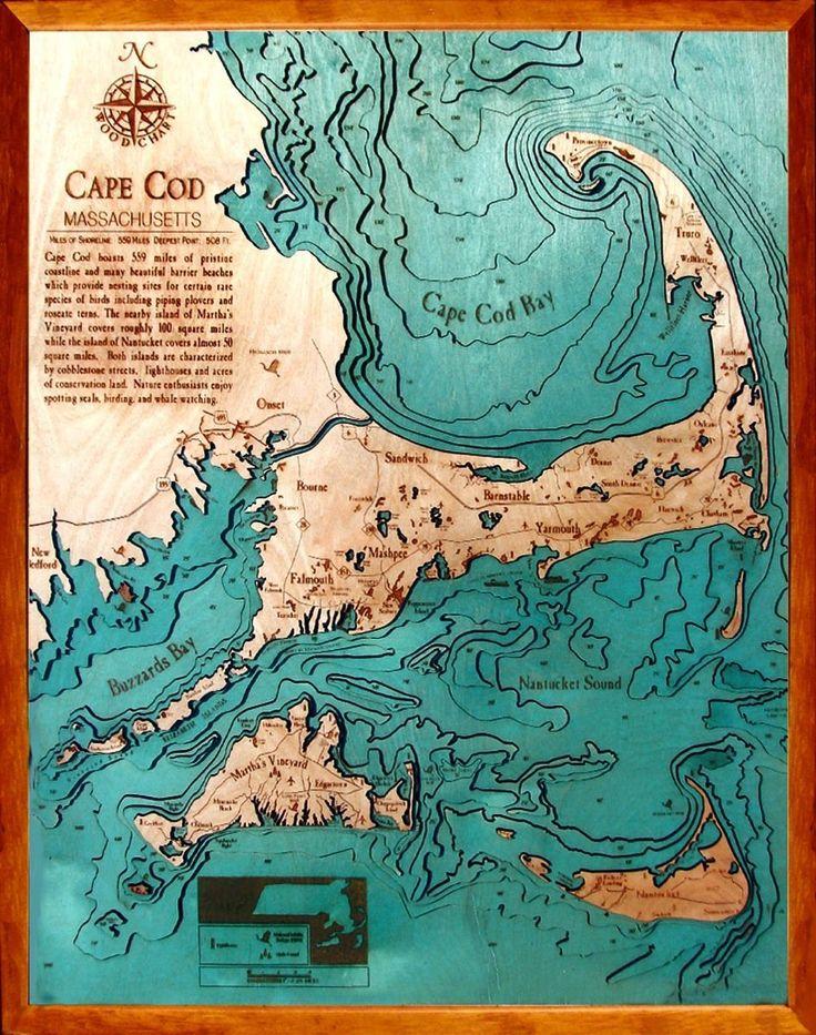 Wood cut nautical charts 58 best Flat