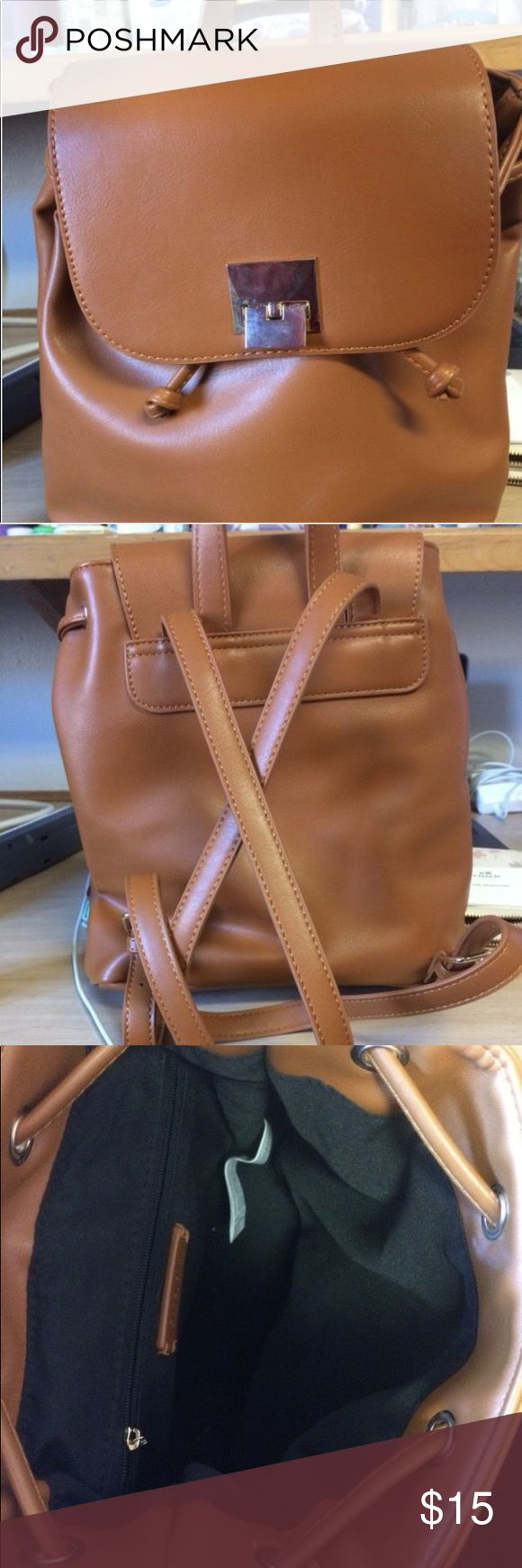 1 year old Forever 21 nude backpack purse Backpack, purse, tan, 1 year old, barely used Forever 21 Bags Backpacks