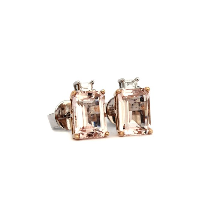 LA VIE EN ROSE EARRINGS | These beautiful earrings are handmade from 18 karat white gold and rose gold.