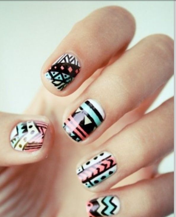 92 best tribal nail art tutorial & video gallery by nded ...