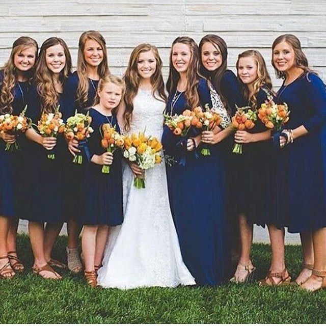 Joy with all her bridemaids