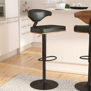 Stupendous Wade Logan Atropos Adjustable Height Swivel Bar Stool Cjindustries Chair Design For Home Cjindustriesco