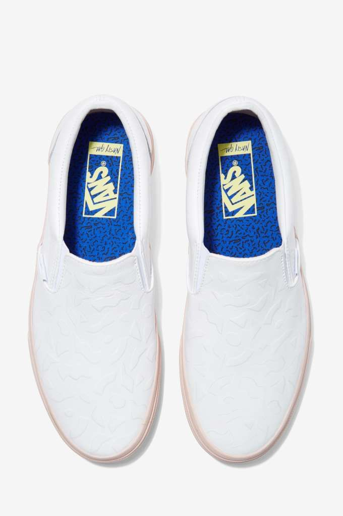 Nasty Gal x Vans Get Down Classic Leather Slip-On Sneakers » Classic.