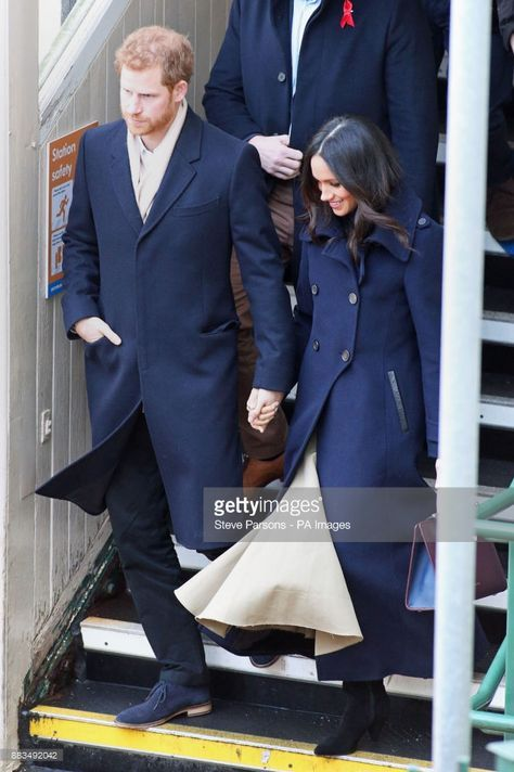 Prince Harry and Meghan Markle arrive at Nottingham Station ahead of their first official engagement together.