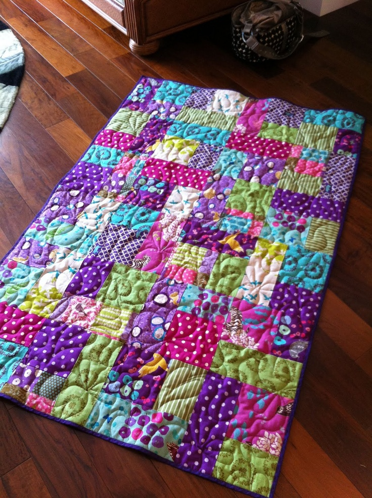 Felicity's new quilt. Made with Echino Fabric #Echino Quilt
