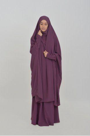 Jilbab Houda manches plissées