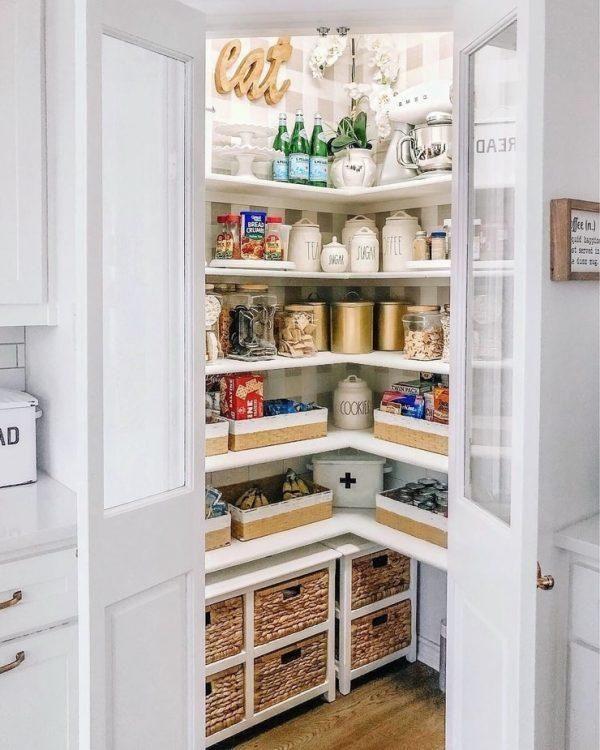 Kitchen Pantry Design Ideas In 2021 Corner Kitchen Pantry Kitchen Remodel Small Kitchen Pantry Design