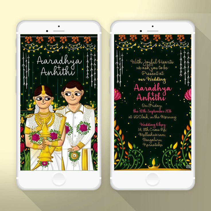 keralwedding card wordings in english%0A Kerala  Wedding Card  Card Designs