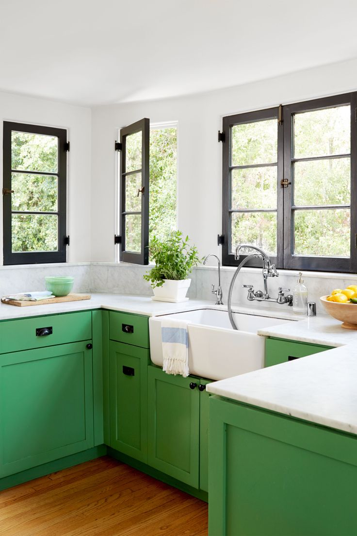 25 best ideas about green kitchen on pinterest green for Kitchen cabinets green