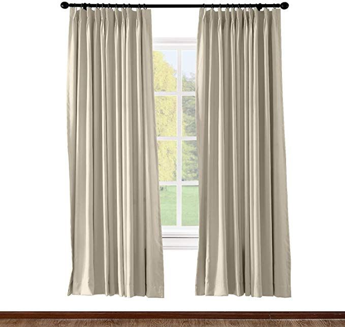 Amazon Com Chadmade Pinch Pleated Curtain Solid Thermal Insulated Blackout Extra Wide Patio Door P Pinch Pleat Curtains Sliding Door Curtains Pleated Curtains