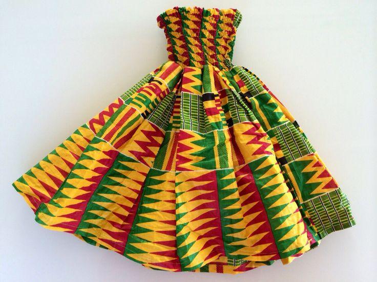 Robe En Pagne Kita Pour Enfant De 2 à 4 Ans Sur Stylafrica