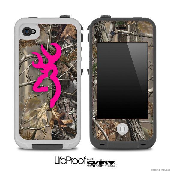 Hot Pink Camo V3 Browning Skin for the iPhone 4/4s or 5 LifeProof Case on Etsy, $9.99 - Maybe she's a little more country?  A hot pink and camouflage skin for her phone will tickle her pink!