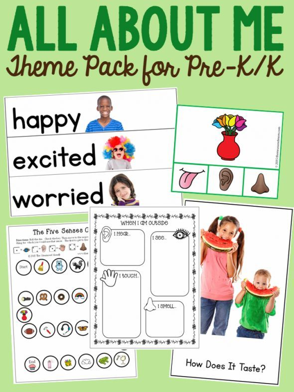 allen main memorial preschool all about me theme pack for pre k k learning all about 372