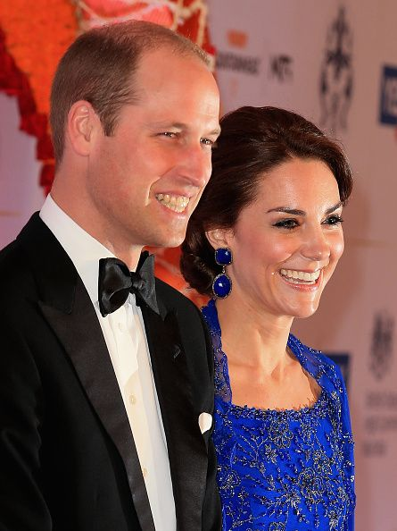 Catherine, Duchess of Cambridge and Prince William, Duke of Cambridge arrive for a Bollywood Inspired Charity Gala at the Taj Mahal Palace Hotel during the royal visit to India and Bhutan on April 10, 2016 in Mumbai, India