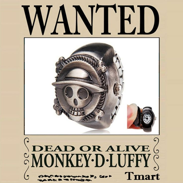 ONE PIECE(Monkey D Luffy)Alloy Quartz Ring Watch Bronze
