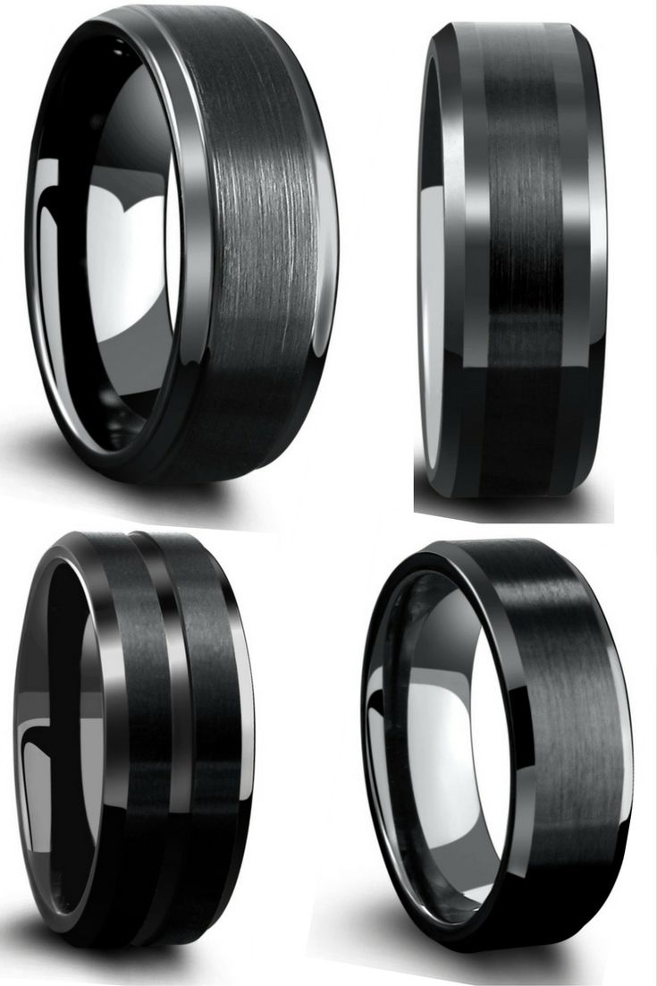 Mens black tungsten wedding bands! This most unique and affordable mens wedding rings. Designed with a modern appeal and comfort fit.