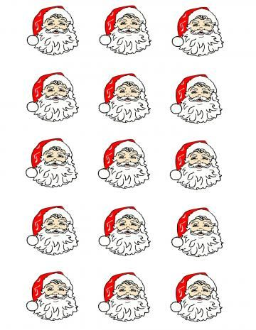 Santa Claus Cupcake/Cookie Toppers by EyeCandeyCreativeDesigns for $9.00