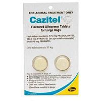 Cazitel Flavoured Allwormer Tablets effectively control roundworm, hookworm, tapeworm and giardia oocysts. The tablets are manufactured by Pfizer. http://www.canadavetcare.com/cazitel-flavoured-allwormer-for-dogs/wormers-treatment-212.aspx