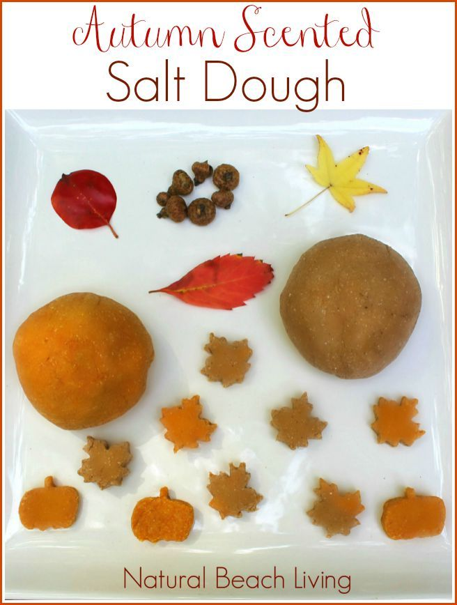 An Amazing Autumn Scented Salt Dough, Perfect for Fall Sensory Play, gift ideas and keepsakes from your kids, Nature & an Easy Homemade Recipe for kids