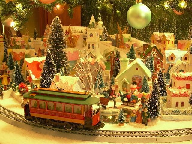 Train Under Christmas Tree. See More. Train Ride Through The Village
