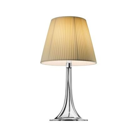 Miss K bordlampe, plissert stoff, Philippe Starck, Flos