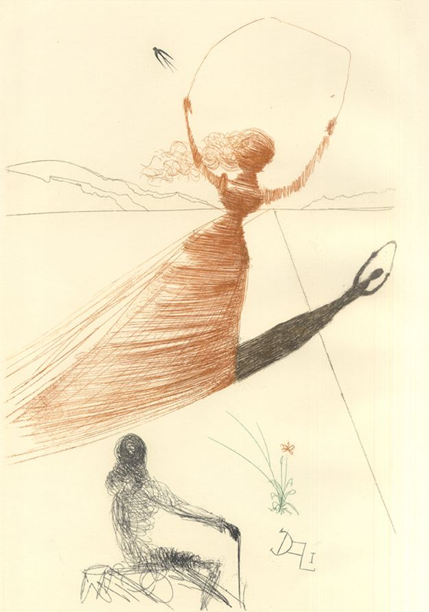 "I want this on a shirt! Salvador Dali Once Illustrated ""Alice In Wonderland"""