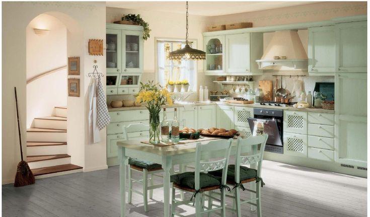 Кухня в стиле прованс, фото интерьера, мебель, аксуссуары, освещение