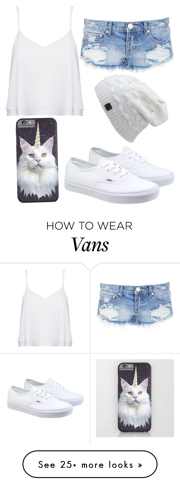 """Normal day"" by fashforfunfff on Polyvore featuring Alice + Olivia, One Teaspoon, Vans, women's clothing, women's fashion, women, female, woman, misses and juniors"