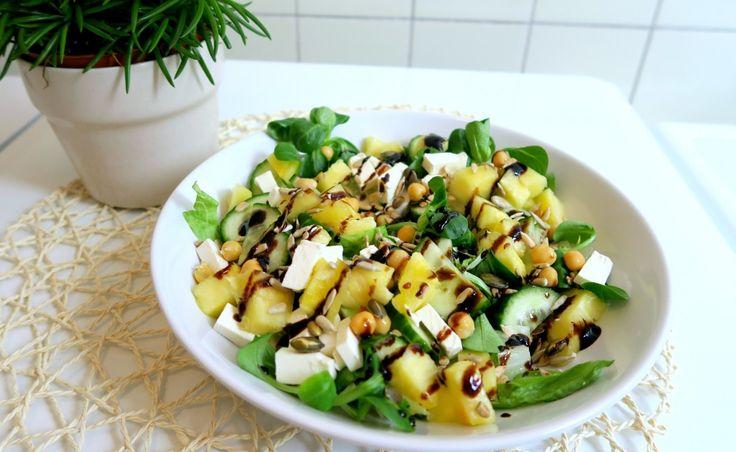 Vegetarische Salade met Feta en Ananas