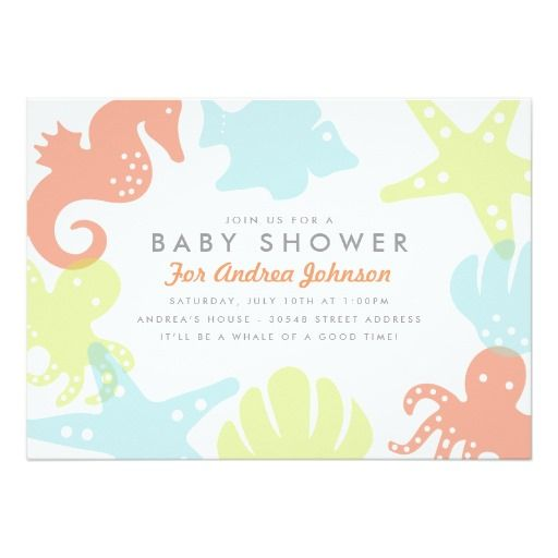 887 best images about ocean baby shower invitations on pinterest, Baby shower invitations