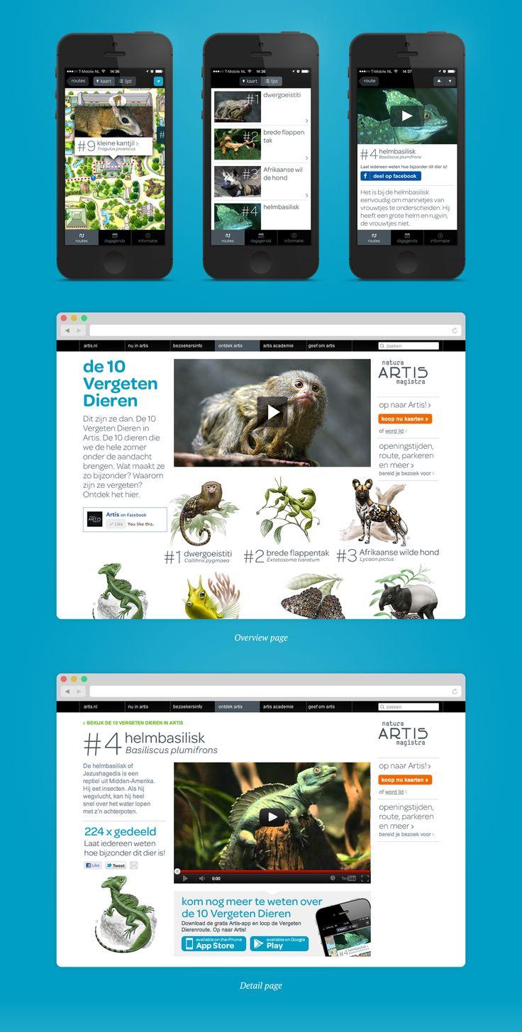 Artis 10 Forgotten Animals - Portfolio of Sanne Wijbenga #Webdesign #UI