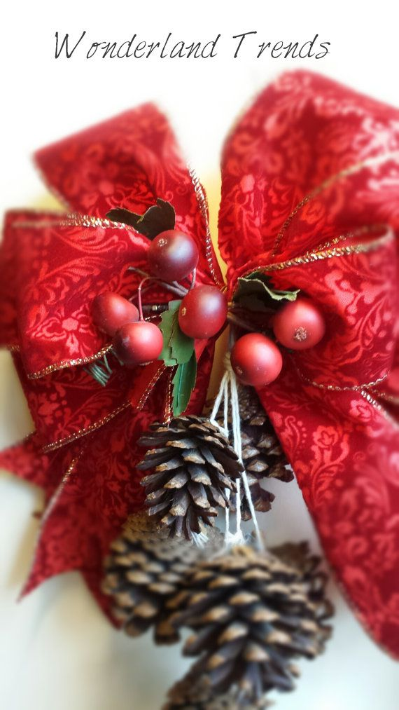 Christmas Christmas door swag Christmas wreath by WonderlandTrends