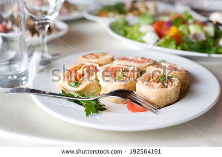 Appetizing snacks in restaurant - stock photo