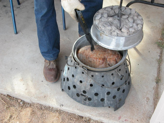 cooking a roast in the Dutch oven