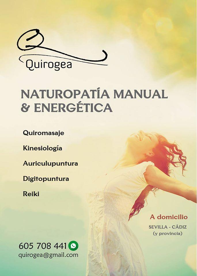 https://www.facebook.com/205124699528852/photos/a.368185626556091.80095.205124699528852/1253896621318316 Quirogea NATUROPATÍA MANUAL & ENERGÉTICA  También atendemos a domicilio en Sevilla y Cádiz (y provincia)  QUIROGEA – Naturopatía Manual y Energética facebook.com/Quirogea-Naturopatía-Manual-y-Energética-205124699528852 Av. de la Constitución, 16, A, Bollullos de la Mitación Tfno. 605 708 441 Promocionado por Globalum. Marketing en Redes Sociales facebook.com/globalumspain