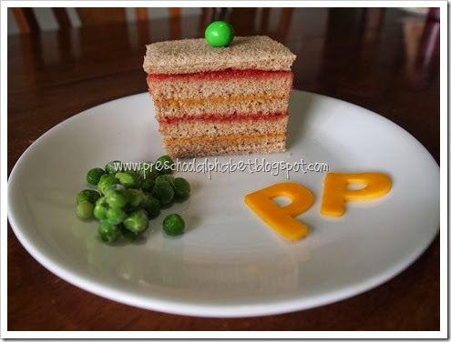 Princess and the Pea Lunch   preschool alphabet