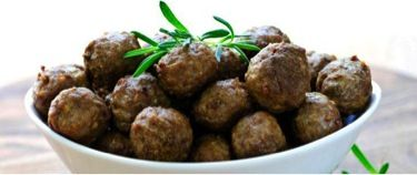 "Breadless Swedish Meatballs:  2lb grass-fed ground beef 1 organic egg 1 organic egg yolk 1/4 cup almond meal 1 teaspoon dried parsley 1/4 large onion, grated 1/2 tsp salt 1/8 tsp black pepper 1/8 tsp fresh ground nutmeg  Mix all ingredients well and shape into 1""″ balls. Fry in batches in a non-toxic skillet until almost cooked through. After all batches are browned, transfer them all back into the skillet. Add 1 cup (or more if desired) of organic chicken broth. Finish cooking."