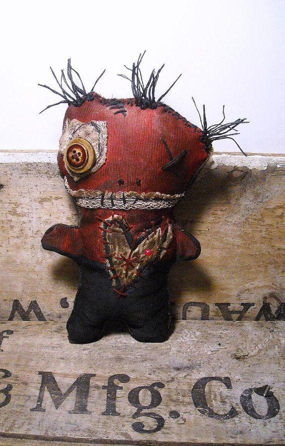 Handmade Voodoo Doll Voodoo Petre by JunkerJane on Etsy