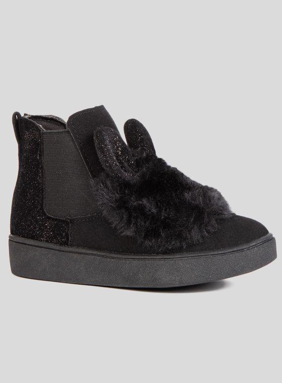 Black Bunny Chelsea Boot (6 Infant- 4