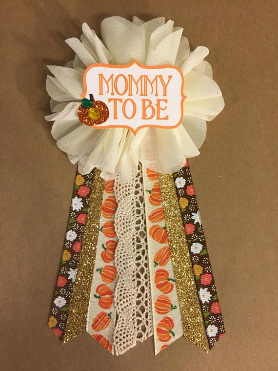 All Fall Pumpkin baby Shower pin mommy to be pin b…
