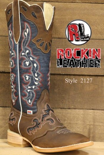 a8e54cb4f54 2127 - RockinLeather Womens Tall Distressed Brown Boot With Wide ...