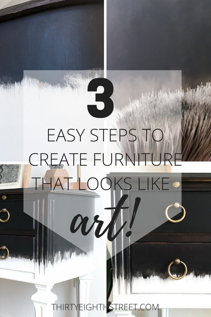 Dry Brush Painting Technique That Makes Furniture Look Like Art #triplePfeature