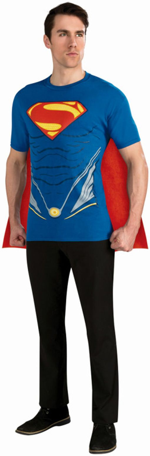 Superman T-Shirt mit Umhang | Superheldenoutfit | horror-shop.com  #Superman #Superhero
