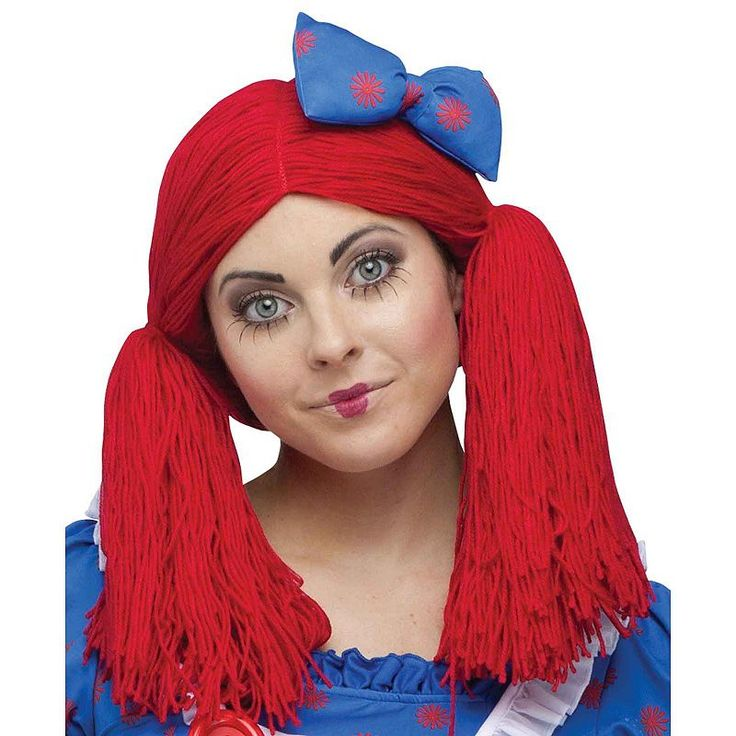 Adult Raggedy Ann Costume Wig, Red