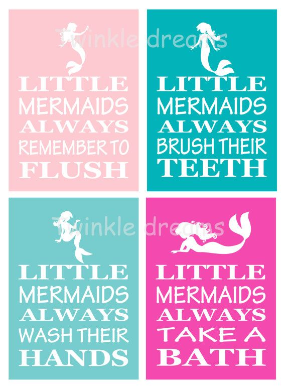 Mermaid art bathroom print mermaid print by twinkledreamsdesign