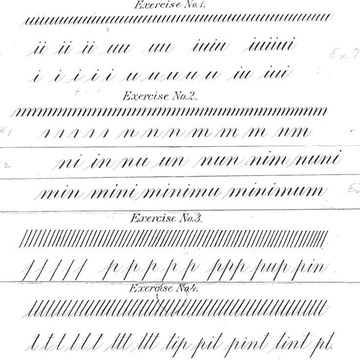 Free lessons in Engrosser's script from Charlton V. Howe: http://www.zanerian.com/Howe01Opt.gif