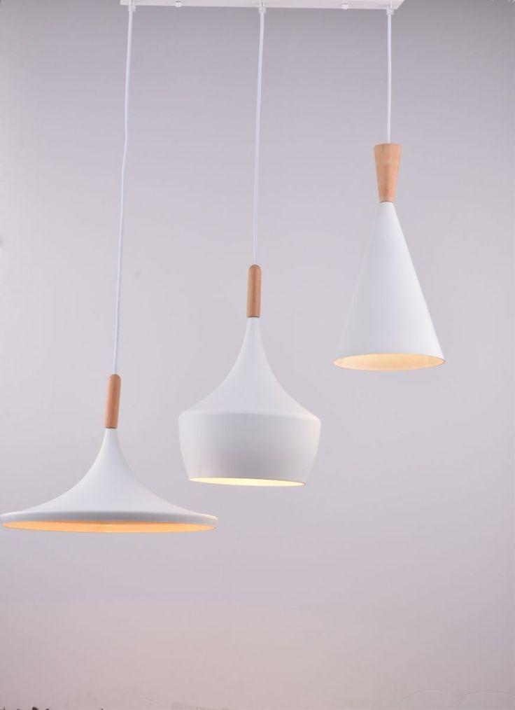 CAGUSTO Pendelleuchte Kevon V 3-teilig Modern Metall Weiß Holz Hängelampe | eBay